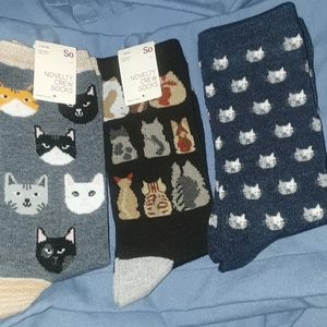 4 for $30 Set 3 pair cat socks
